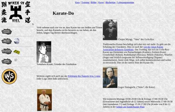Vorschau von kiel-karate.de, GoJu-Ryu Karate im Wiker Sportverein, Kiel