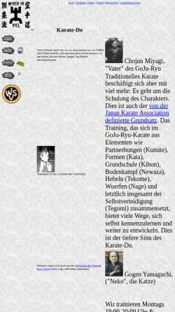 Vorschau der mobilen Webseite kiel-karate.de, GoJu-Ryu Karate im Wiker Sportverein, Kiel
