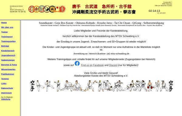 Vorschau von www.xn--karate-mnchen-schwabing-jpc.de, MTSV Schwabing e.V.