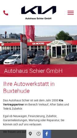Vorschau der mobilen Webseite autohaus-schier.de, Autohaus Schier GmbH
