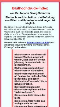 Vorschau der mobilen Webseite www.dr-schnitzer.de, Bluthochdruck-Index
