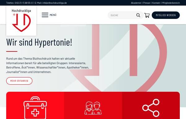 Vorschau von www.hochdruckliga.de, Deutsche Hochdruckliga e.V. DHL