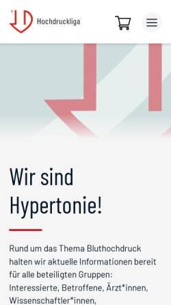 Vorschau der mobilen Webseite www.hochdruckliga.de, Deutsche Hochdruckliga e.V. DHL