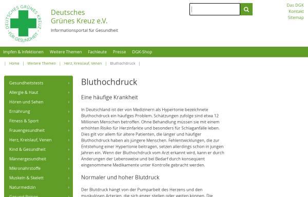 Vorschau von dgk.de, DGK - Bluthochdruck