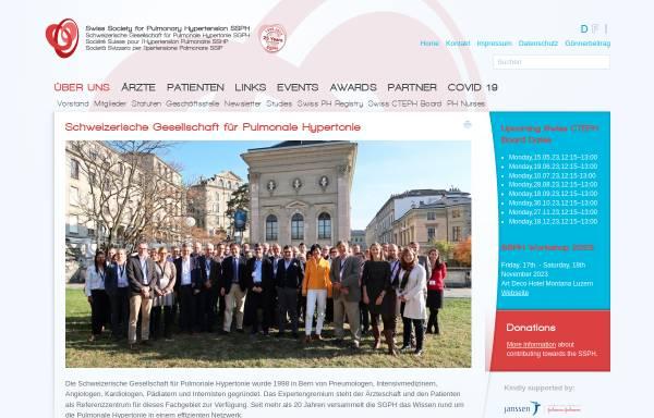 Vorschau von www.saph.ch, Schweizerische Arbeitsgruppe für Pulmonale Hypertonie