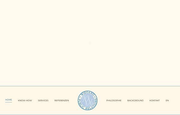 Vorschau von www.wiegand-pr.de, Wiegand Public Relations