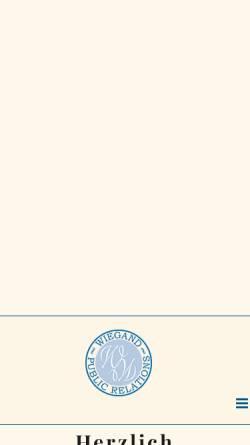 Vorschau der mobilen Webseite www.wiegand-pr.de, Wiegand Public Relations