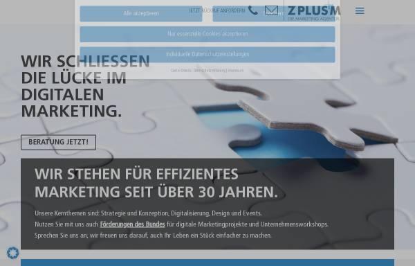 Vorschau von www.zplusm.de, Z PLUS M - Die Marketing Agentur KG