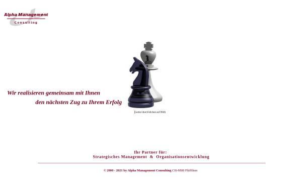 Vorschau von www.alpha-cons.ch, Alpha Management Consulting