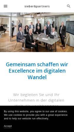 Vorschau der mobilen Webseite sieberpartners.squarespace.com, Dr. Pascal Sieber & Partners AG