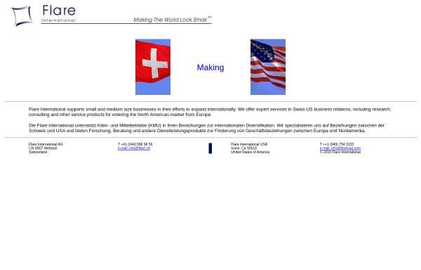 Vorschau von www.flare.ch, Flare International AG
