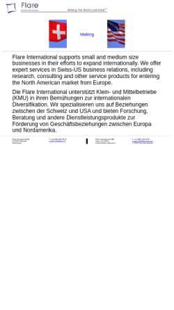 Vorschau der mobilen Webseite www.flare.ch, Flare International AG