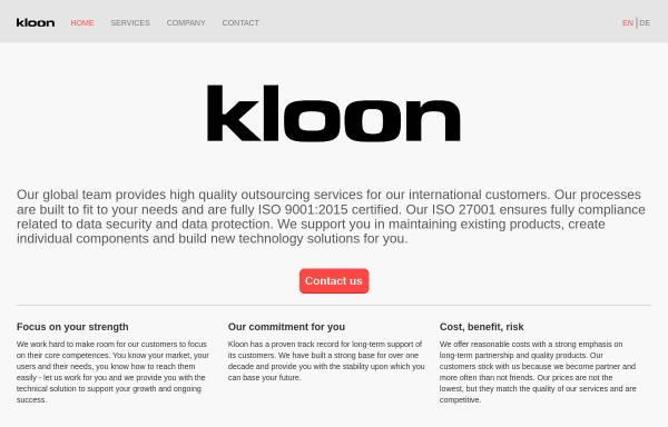 Vorschau von www.kloon.com, Kloon GmbH