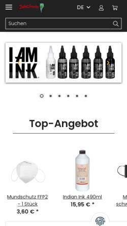 Vorschau der mobilen Webseite www.tattoobedarf.de, Tribal Jewelry GmbH