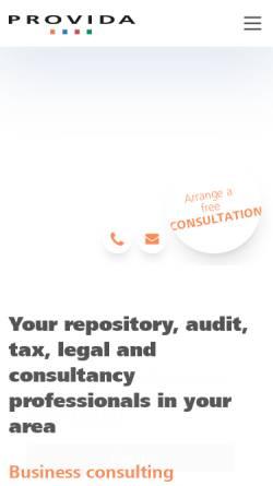 Vorschau der mobilen Webseite www.provida.ch, Provida Consulting AG