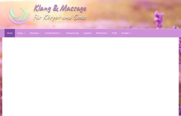 Vorschau von www.massage-klang-reich.de, Becker, Brigitte Maria