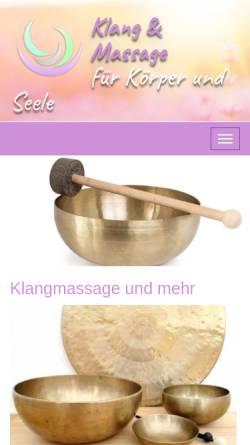 Vorschau der mobilen Webseite www.massage-klang-reich.de, Becker, Brigitte Maria