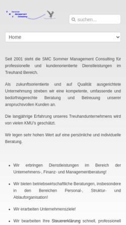 Vorschau der mobilen Webseite www.sommaco.ch, SMC Sommer Management Consulting