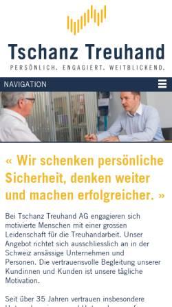 Vorschau der mobilen Webseite www.tschanz-treuhand.ch, Tschanz Treuhand AG