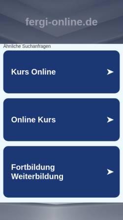 Vorschau der mobilen Webseite www.fergi-online.de, FerGI