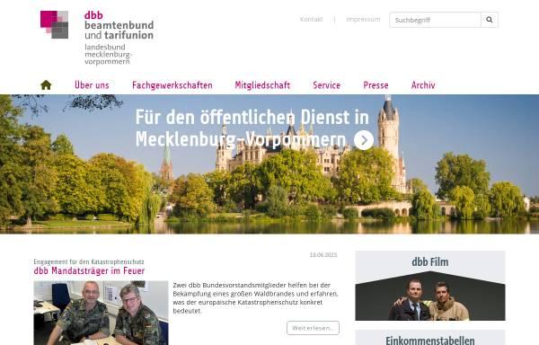 Vorschau von www.dbb-mv.de, Deutscher Beamtenbund [DBB] - Landesbund Mecklenburg-Vorpommern