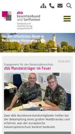 Vorschau der mobilen Webseite www.dbb-mv.de, Deutscher Beamtenbund [DBB] - Landesbund Mecklenburg-Vorpommern