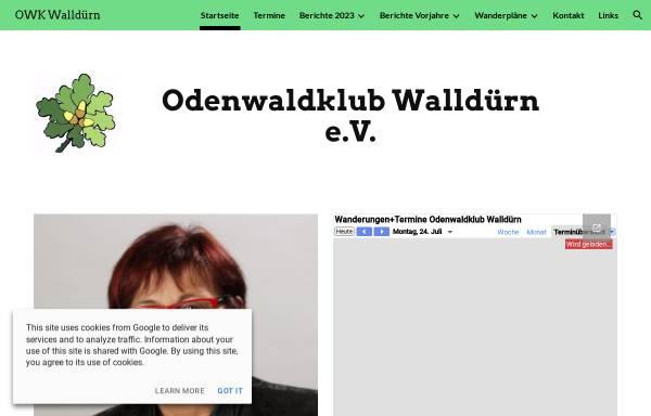 Vorschau von www.odenwaldklub-wallduern.de, Odenwaldklub Ortsgruppe Walldürn