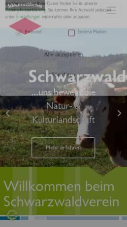 Vorschau der mobilen Webseite schwarzwaldverein.de, Schwarzwaldverein
