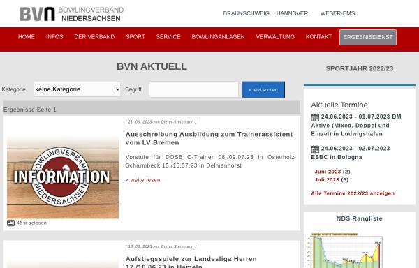 Vorschau von www.bowling-weser-ems.de, Bowling Bezirk Weser Ems