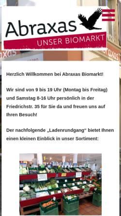 Vorschau der mobilen Webseite naturkost-abraxas.de, Abraxas Naturkost/Naturwaren Handels-GmbH