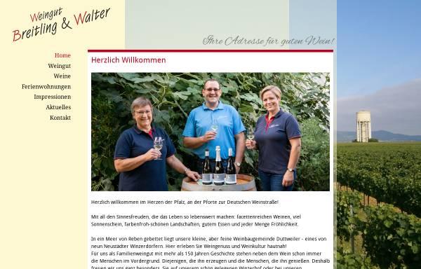 Vorschau von www.breitlingwein.de, Weingut Breitling und Walter