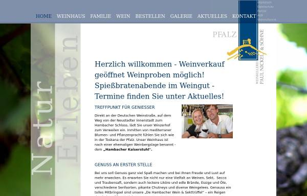 Vorschau von www.weingut-kaiserstuhl-nickel.de, Weinhaus Kaiserstuhl