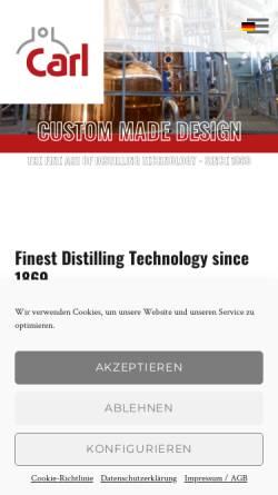 Vorschau der mobilen Webseite www.christiancarl.com, Christian Carl Ingenieur GmbH