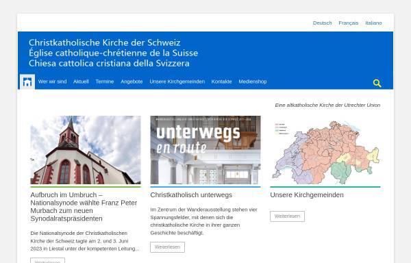 Vorschau von christkatholisch.ch, Christkatholische Kirche der Schweiz