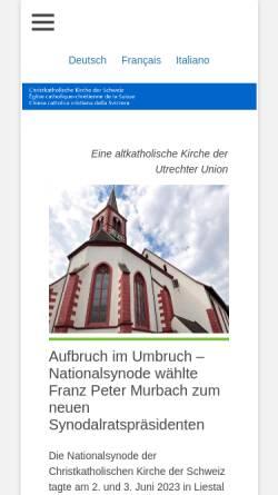Vorschau der mobilen Webseite christkatholisch.ch, Christkatholische Kirche der Schweiz