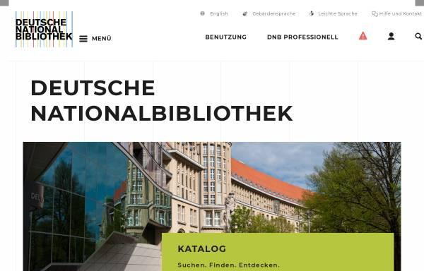 Vorschau von www.dnb.de, Deutsche Nationalbibliothek