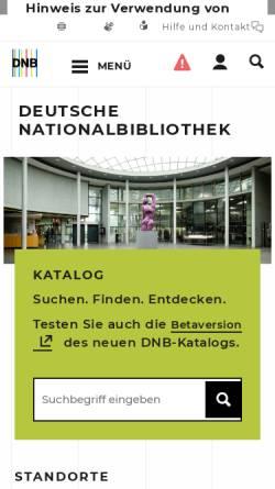 Vorschau der mobilen Webseite www.dnb.de, Deutsche Nationalbibliothek