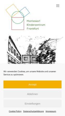 Vorschau der mobilen Webseite www.montessori-kinderzentrum.de, Montessori Kinderzentrum e.V., Frankfurt am Main