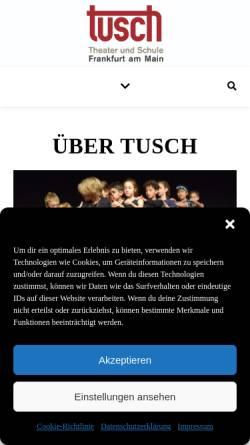 Vorschau der mobilen Webseite tusch-frankfurt.de, TUSCH