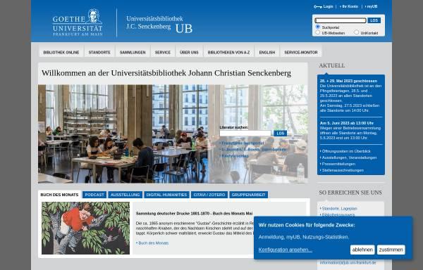 Vorschau von www.ub.uni-frankfurt.de, Universitätsbibliothek Frankfurt am Main