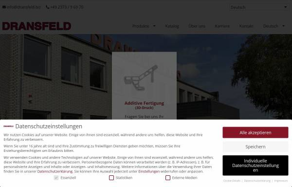 Vorschau von www.dransfeld.biz, Dransfeld GmbH & Co. KG