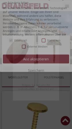 Vorschau der mobilen Webseite www.dransfeld.biz, Dransfeld GmbH & Co. KG