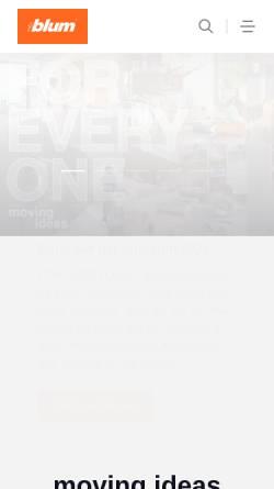 Vorschau der mobilen Webseite www.blum.com, Julius Blum GmbH