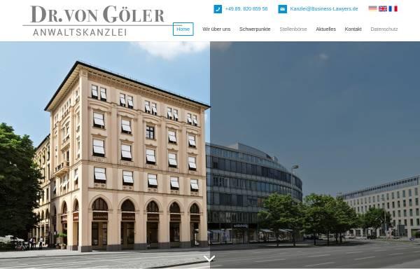 Vorschau von business-lawyers.de, Anwaltskanzlei Dr. von Göler, München