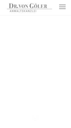 Vorschau der mobilen Webseite business-lawyers.de, Anwaltskanzlei Dr. von Göler, München