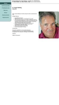 Vorschau der mobilen Webseite www.anwalt-niebling.de, Rechtsanwalt Dr. Jürgen Niebling