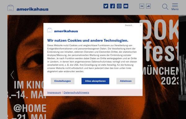 Vorschau von www.amerikahaus.de, Stiftung Bayerisches Amerikahaus gGmbH