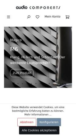 Vorschau der mobilen Webseite www.audio-components.de, Audio Components