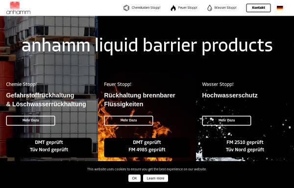 Vorschau von www.rueckhaltesysteme.de, Anhamm Behälterbau-, Stahl- & Apparatebau, Inh. Helmut Anhamm