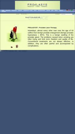 Vorschau der mobilen Webseite prolasys.punapau.dyndns.org, Prolasys - Zentrum für Prostata Laser-Therapie